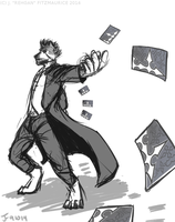 COMMISSION: Card Slinger by Rehgan