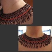 Egyptian Style Necklace by WillowForrestall