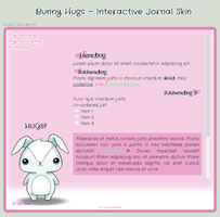 Bunny Hugs ~ Interactive Journal Skin by Neko-Bear