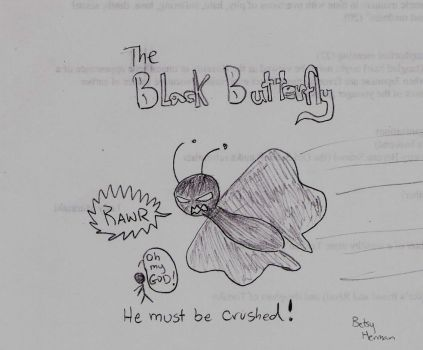 The Black Butterfly by hebei
