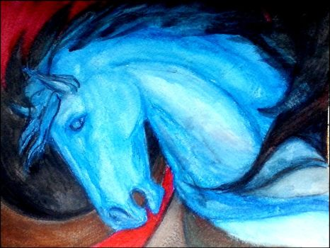 Blue whinny by griffinlady