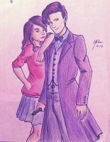 The Doctor and Clara by Bella-Anima