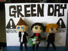 Green Day plushies by pearlandfrog13