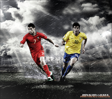 Ronaldo vs Kaka WC2010 by Rzr316