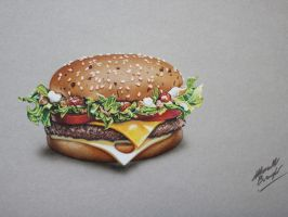 Drawing burger by marcellobarenghi