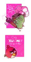 Angry Birds Toons : For Valentine's Day by MemQ4