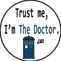 Doctor Who Humor Button 2 by FoxTrotProducts