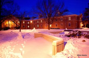 Winter College Snowscape by moonlightrose44