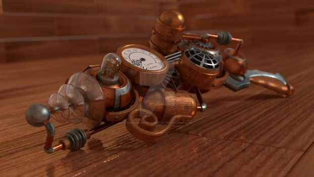 Steampunk gun cycles by Pharaoh-Hamenthotep