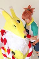 Kyubimon and Ruki - Digimon Tamers by shuukichi