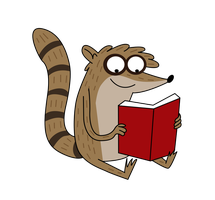 Rigby is....READING?! by PaulyVectors