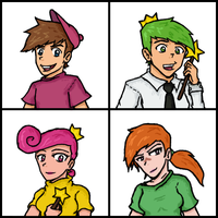 Fairly Odd Parents - character set 1/4 by OmigawdMatt