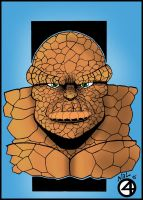 The Thing Fantastic Four Colored By Rcknp by tenshiflyers