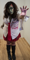 Zombie School Girl 21 by Angelic-Obscura