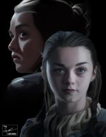 Arya Stark digital painting by frostdusk