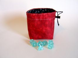 Red and Black Dice Bag by mousch