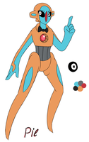 Pie the Deoxys by PuddingzWolf