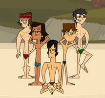 Total Drama Stripers Boys by skull1045fox