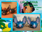 COMM.:Stitch Earrings by xXTheTuneInTheWindXx