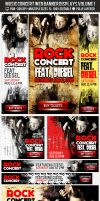 Concert and Event Web Banners AD Kit PSD by ShermanJackson