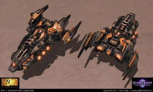 Starcraft II: Terran Capital Ship 2013 by cg-sammu