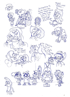 Weird Sketches 03092014 by toongrowner