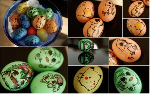 Pokemon Easter Eggs! by dragonfly-oli