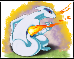 Silver the Lugia Charizard Hybrid stage 2 by BlazingLillyArtz
