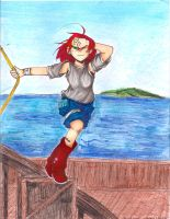 girl on a boat.2 by Roxy12333