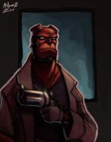 Hellboy by AdamMasterman