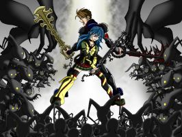 Kingdom Hearts OC Stand Off by Kerberos-of-Hades