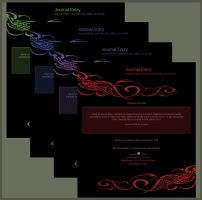 Free Journal CSS - Tribal Flow by LiquidFaeStudios