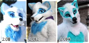 WindWolf Fursuit Evolution by WindWo1f