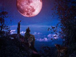 Moonlight Howl by fnhaven