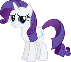 Rarity staring at you by M99moron