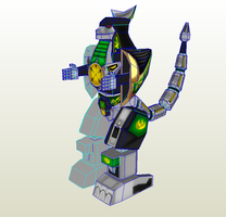 DragonZord mmd obj texture files by PapercraftKing