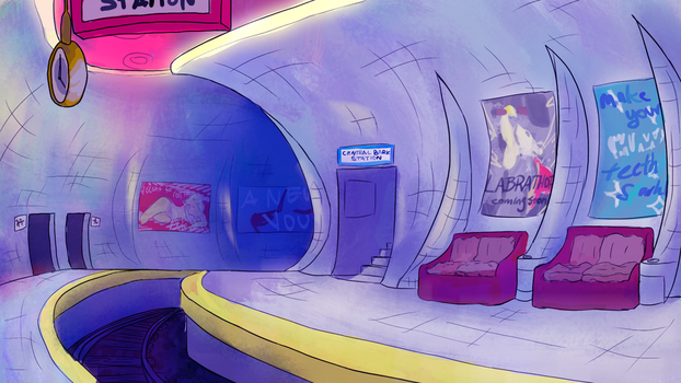Central Bark Station - Interior by galaxyswords