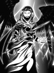 Aeacus, The Angel of Death [black and white] by Kasuto-Productions
