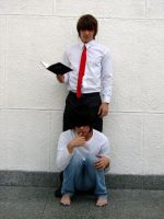 Kira and L Death Note by rurounialfonso
