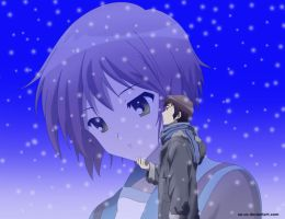Winter: Kyon and Yuki by Su-uX