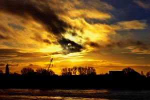 ELBE SUNSET by rockmylife