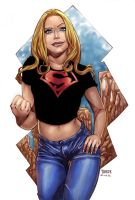 supergirl at superboy's clothes by adagadegelo
