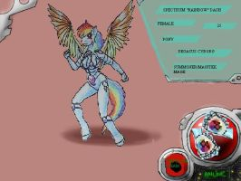 SPECTRUM DASH equestria tainted id by sanyo2100 by DEVIOUS-DISCORD-RP