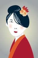 geisha by antart
