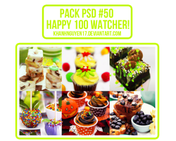 Pack PSD #50 - Kya Nguyen's [HAPPY 100 WATCHER] by khanhnguyen17