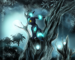 Moonlight Forest by Deruuyo