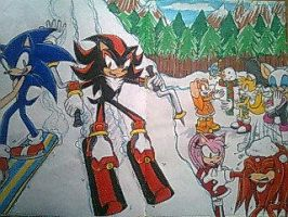 Winter Time- Sonic Style by Sky-The-Echidna