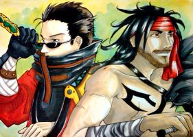 Auron + Jecht by fatpuppy