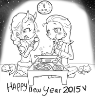 Happy New Year 2015!! by TomatoGyoza