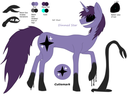 Ref. Sheet - Dimmed Star by Riygan